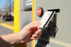 πληρωμή στάθμευσης Στοκ εικόνες με δικαίωμα ελεύθερης χρήσης