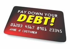 Πληρώστε κάτω από τον προϋπολογισμό πιστωτικών καρτών χρεώσεών σας την τρισδιάστατη απεικόνιση ελεύθερη απεικόνιση δικαιώματος
