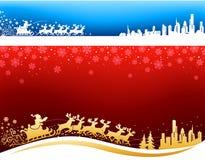 Πλησιάζοντας ανασκοπήσεις Χριστουγέννων Santa διανυσματική απεικόνιση