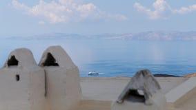 Πλησιάζοντας λιμάνι βαρκών, στο νησί του Αιγαίου της Τήνου, Ελλάδα στοκ φωτογραφία με δικαίωμα ελεύθερης χρήσης