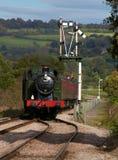 πλησιάζοντας τραίνο ατμού στοκ εικόνα με δικαίωμα ελεύθερης χρήσης