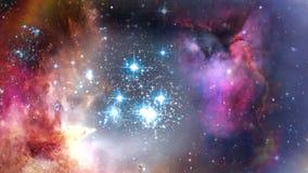 Πλοήγηση μέσω του νεφελώματος και των γαλαξιών απόθεμα βίντεο