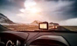 Πλοηγός ΠΣΤ στο αυτοκίνητο Στοκ Εικόνες