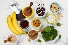 Πλούσιοι τροφίμων του μαγνήσιου Στοκ φωτογραφίες με δικαίωμα ελεύθερης χρήσης