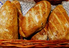 Πλούσιο χωριάτικο ψωμί ξύλων καρυδιάς στοκ φωτογραφίες με δικαίωμα ελεύθερης χρήσης