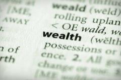 πλούτος σειράς οικονομικών λεξικών στοκ εικόνα με δικαίωμα ελεύθερης χρήσης