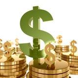 πλούτος συμβόλων χρημάτων & ελεύθερη απεικόνιση δικαιώματος