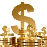 πλούτος συμβόλων χρημάτων & διανυσματική απεικόνιση
