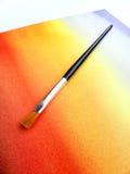 πλυμένο χρώμα watercolor βουρτσών α&n Στοκ φωτογραφία με δικαίωμα ελεύθερης χρήσης