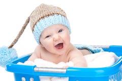 πλυντήριο καλαθιών μωρών λίγα στοκ φωτογραφία με δικαίωμα ελεύθερης χρήσης