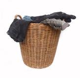 Πλυντήριο σε ένα καλάθι στοκ εικόνα