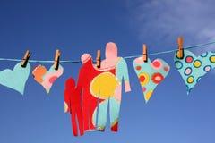 πλύση αγάπης γραμμών καρδιών Στοκ φωτογραφία με δικαίωμα ελεύθερης χρήσης