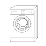 πλύση μηχανών γραμμών Στοκ Εικόνες