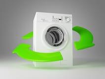 πλύση μηχανών eco διανυσματική απεικόνιση