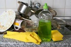 Πλύση πιάτων Στοκ Φωτογραφία