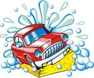 πλύση σημαδιών αυτοκινήτω&n διανυσματική απεικόνιση