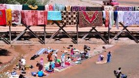 πλύση του Μαρόκου ταπήτων Στοκ εικόνες με δικαίωμα ελεύθερης χρήσης