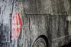 Πλύσιμο αυτοκινήτων αφρού Στοκ Εικόνες
