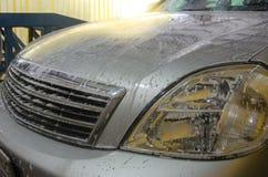 Πλύσιμο αυτοκινήτων αφρού Στοκ φωτογραφίες με δικαίωμα ελεύθερης χρήσης