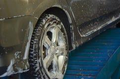 Πλύσιμο αυτοκινήτων αφρού Στοκ Φωτογραφία