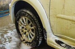 Πλύσιμο αυτοκινήτων αφρού Στοκ φωτογραφία με δικαίωμα ελεύθερης χρήσης