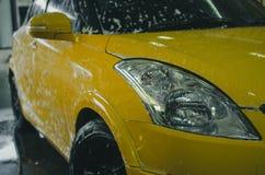 Πλύσιμο αυτοκινήτων αφρού Στοκ Εικόνα