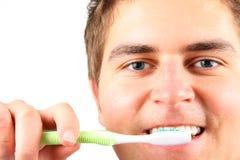 πλύσιμο δοντιών Στοκ Φωτογραφίες