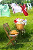 πλύσιμο πετσετών πιάτων ημέρ&a Στοκ φωτογραφία με δικαίωμα ελεύθερης χρήσης