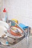πλύσιμο πιάτων Στοκ Φωτογραφία
