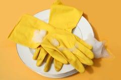 πλύσιμο των πιάτων Στοκ εικόνες με δικαίωμα ελεύθερης χρήσης