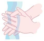 πλύσιμο χεριών απεικόνιση αποθεμάτων