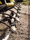 πλύσιμο ψεκαστήρων σειρών μηχανών Στοκ φωτογραφία με δικαίωμα ελεύθερης χρήσης