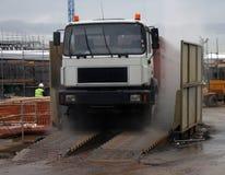 πλύσιμο truck Στοκ Φωτογραφίες