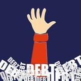 Πνίξιμο στο χρέος ελεύθερη απεικόνιση δικαιώματος