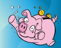 πνίξιμο τραπεζών piggy απεικόνιση αποθεμάτων