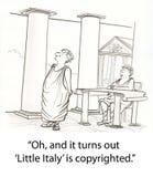 πνευματικά δικαιώματα Ιταλία Στοκ Εικόνες