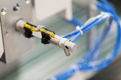 Πνευματική μονάδα εμβόλων στη βιομηχανική μηχανή Στοκ Εικόνα