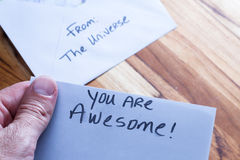Πνευματικό μήνυμα στο ταχυδρομείο Στοκ εικόνες με δικαίωμα ελεύθερης χρήσης