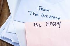 Πνευματικό μήνυμα στο ταχυδρομείο Στοκ εικόνα με δικαίωμα ελεύθερης χρήσης