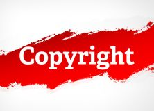 Πνευματικών δικαιωμάτων κόκκινη απεικόνιση υποβάθρου βουρτσών αφηρημένη ελεύθερη απεικόνιση δικαιώματος