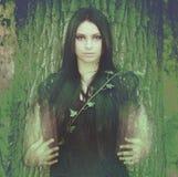 Πνεύμα του δάσους, η τήξη του ατόμου και φύση Στοκ εικόνα με δικαίωμα ελεύθερης χρήσης