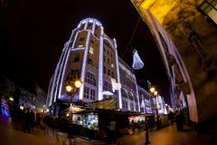 Πνεύμα Χριστουγέννων στη Βουδαπέστη στοκ φωτογραφίες με δικαίωμα ελεύθερης χρήσης