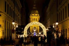 Πνεύμα Χριστουγέννων στη Βουδαπέστη στοκ εικόνα