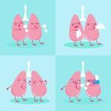 Πνεύμονας με την έννοια υγείας ελεύθερη απεικόνιση δικαιώματος