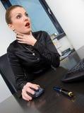 πνιγμένη επιχειρηματίας ε&rh στοκ εικόνα με δικαίωμα ελεύθερης χρήσης