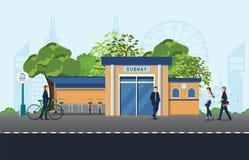Ποδήλατα ατόμων ` s που σταθμεύουν κοντά στο σταθμό μετρό απεικόνιση αποθεμάτων