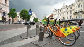Ποδήλατα για τη μίσθωση σε Vilnius φιλμ μικρού μήκους