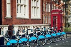 Ποδήλατα για το μίσθωμα, Λονδίνο Στοκ Εικόνες