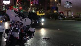 Ποδήλατο μηχανών αστυνομίας στη λεωφόρο του Λας Βέγκας - ΗΠΑ 2017 φιλμ μικρού μήκους