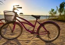 Ποδήλατο παραλιών νησιών Holbox στο Μεξικό Στοκ φωτογραφία με δικαίωμα ελεύθερης χρήσης